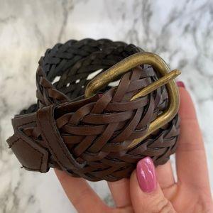 Accessories - Braided brown brass buckle belt size 34